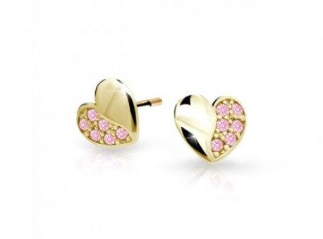 004f14221 Cutie jewellery detske nausnice srobovacie C2160 zlte zlato ...