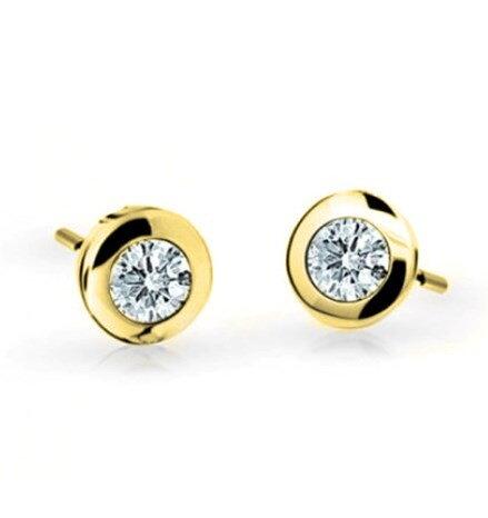 03af843df Náušnice šróbovacie E015ž s diamantom 0,36ct
