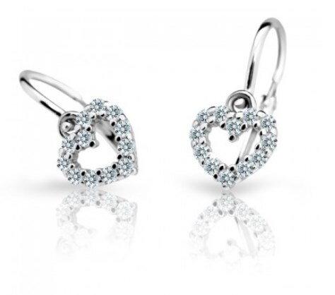 91e7a2afe Cutie jewellery nausnice detske C2157 biele zlato | svadobneobrucky.sk