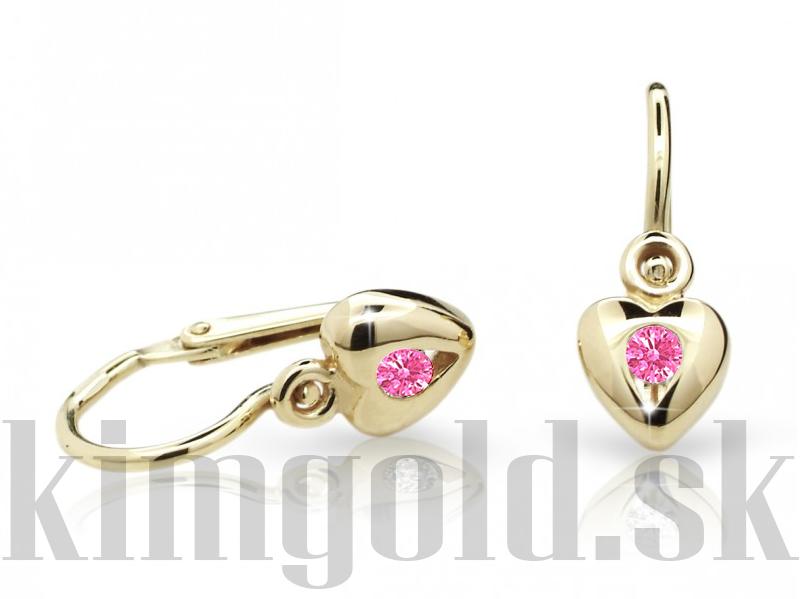 f09a33c21 Cutie jewellery detske nausnice C1556 zlte zlato srdiecka ...