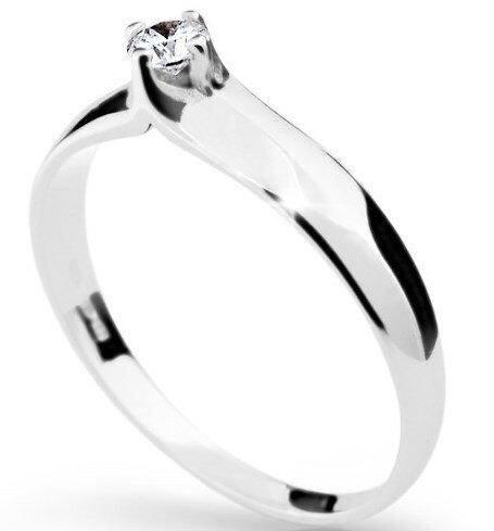 2e2c6faba Zlatý zásnubný prsteň s diamantom DF 1891 b 0,140ct + darčekové balenie  zdarma