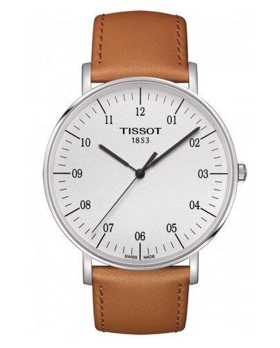 Tissot Everytime T109.610.16.037.00 pánske jednoduché hodinky s hnedým  koženým remienkom f2cf2fef60