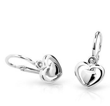 316ac3128 Cutie jewellery nausnice pre deti C1604 biele zlato | svadobneobrucky.sk
