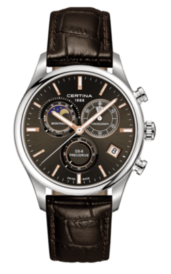 Certina DS-8 Moon Phase  C033.450.16.081.00 (C0334501608100) DS 8 GENT CHRONO MOONPHASE + DARČEK ZDARMA