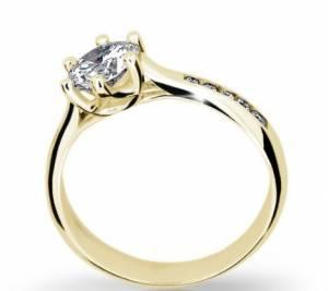 Zásnubný prsteň DF 1886ž + darčekové balenie zdarma d4308b85b1a