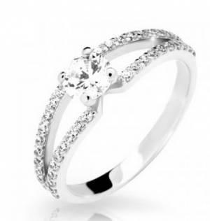 ... bieleho zlata so zirkónmi. Zásnubný prsteň DF 2358 b + darčekové  balenie zdarma 4fa8c60a609
