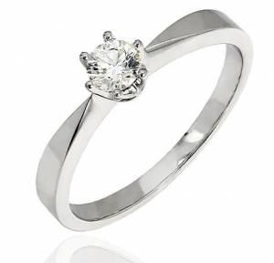 Zásnubný prsteň 048047 s briliantom 0 c16945f5726