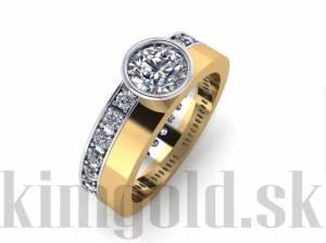 Zásnubný prsteň 2240298ž + darčekové balenie zdarma 45fa600e227