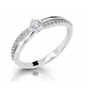 ... bieleho zlata so zirkónmi .Možnosť... Zásnubný prsteň DF 2837b +  darčekové balenie zdarma c923237deb8