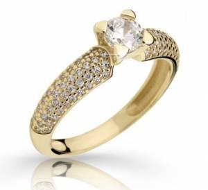 Zásnubný prsteň DF 2353ž + darčekové balenie zdarma f807145a93b