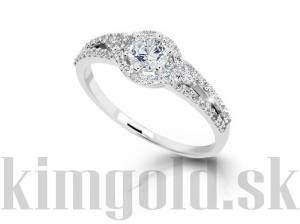 Zásnubný prsteň DF 2802b + darčekové balenie zdarma c00f4b69b32