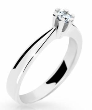 Zásnubný prsteň z bieleho zlata DF 2284 + darčekové balenie zdarma 043ebba58db