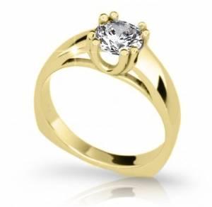 Zásnubný prsteň zo žltého zlata DF 2277 ž + darčekové balenie zdarma 4e919e4bed9