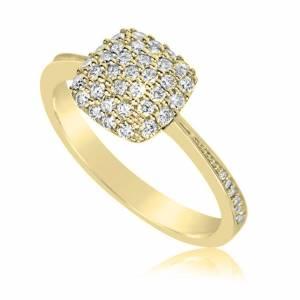 Dámsky prsteň DF 3198 ž zo žltého zlata + darčekové balenie zdarma 0bb9f06ba23
