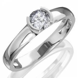 b5c097ac25d Snubné prstene, zásnubné prstene z bieleho zlata s diamantom ...