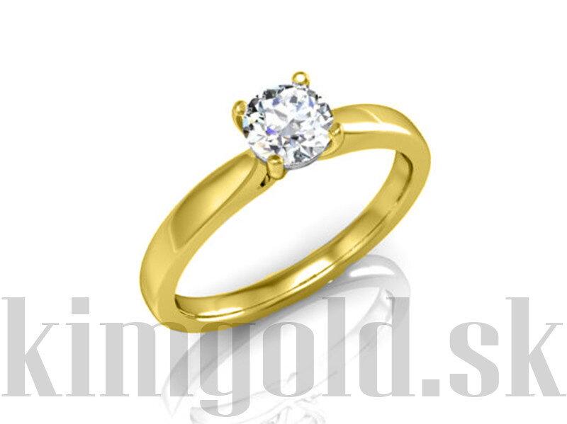 fd94c68de Zásnubný prsteň zo žltého zlata so zirkónom R056 ž + darčekové balenie  zdarma
